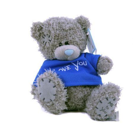 Плюшевый мишка Teddy (15 см) в синей футболке