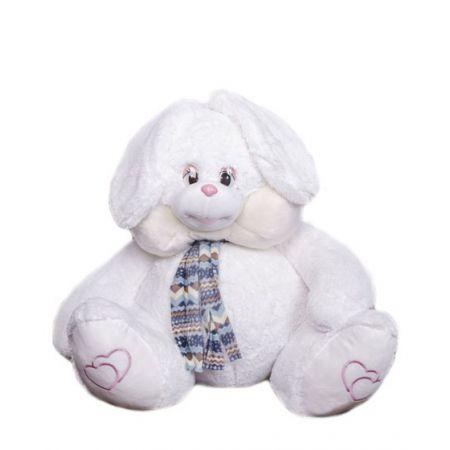 Большой плюшевый заяц 110 см (белый)