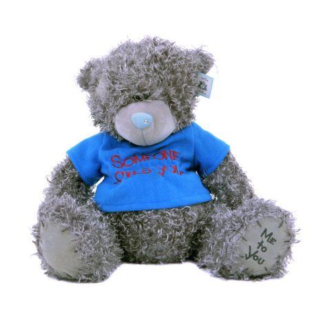 Плюшевый мишка Teddy (40 см) в синей футболке