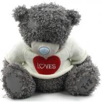 Плюшевый мишка Teddy (25 см) в белом с...
