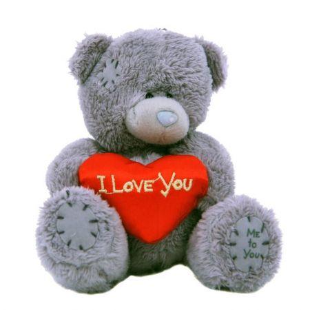 Мишка-брелок Teddy (10 см) с красным сердечком