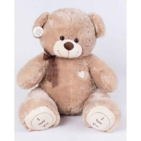 Плюшевый медвежонок Томас 100 см кофейный
