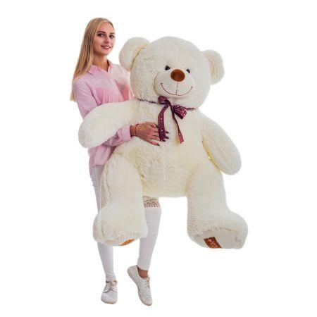 Плюшевый медведь Амур 140 см (молочный)