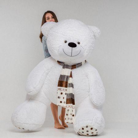 Плюшевый медведь Мартин 170 см (белый)