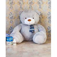 Большой медведь Тарас 210 см (серый)...