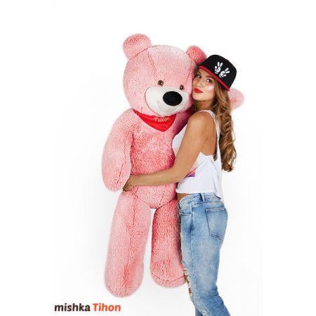 Плюшевый медведь Тихон 130 см (розовый)
