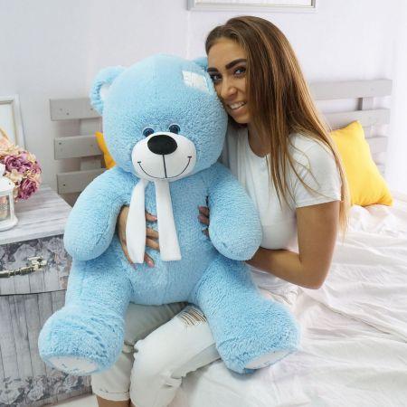 Плюевый медведь Артур 100 см (голубой)