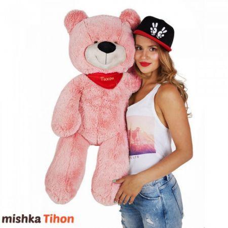 Плюшевый медведь Тихон 90 см (розовый)