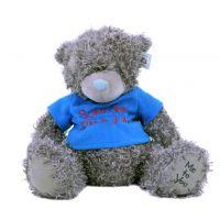 Плюшевый мишка Teddy (40 см) в синей ф...