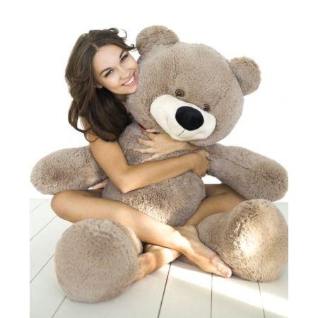 Плюшевый медведь Тихон 130 см (кофейный)