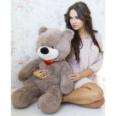 Мягкий медведь Тихон 90 см (кофейный)