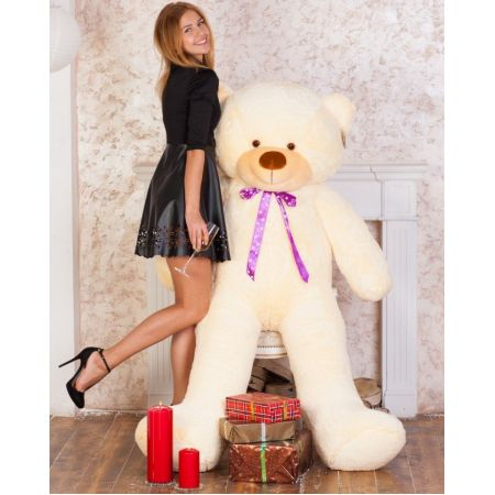Мягкий плюшевый медведь Феликс 160 см (чайная роза)