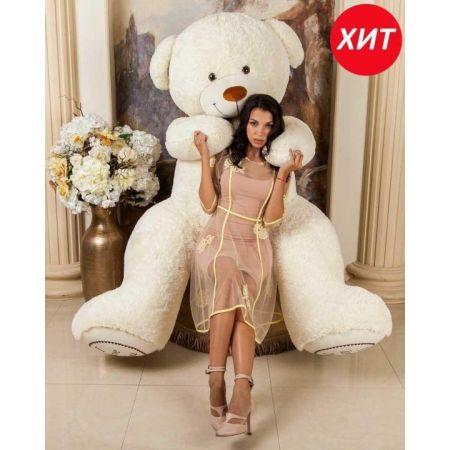 Большой плюшевый медведь Алекс 190 см (белый)