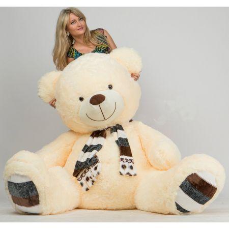Плюшевый медведь Мартин 230 см (персиковый)
