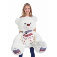 Плюшевый медведь Мартин 145 см (латте)...