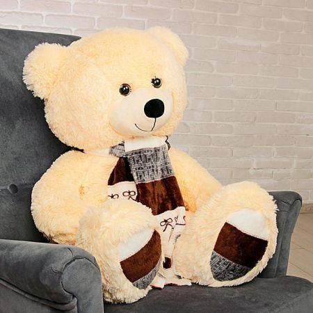 Плюшевый медведь Мартин 110 см (персиковый)