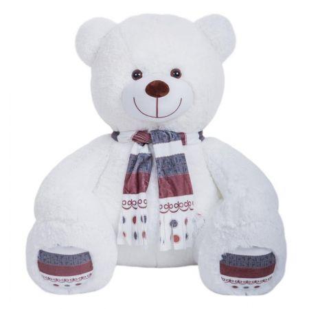Плюшевый медведь Мартин 145 см (белый)