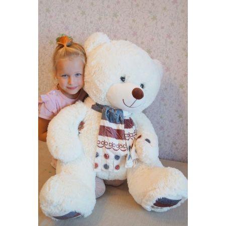 Плюшевый медведь Мартин 110 см (белый)