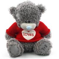 Плюшевый мишка Teddy (25 см) в красном...