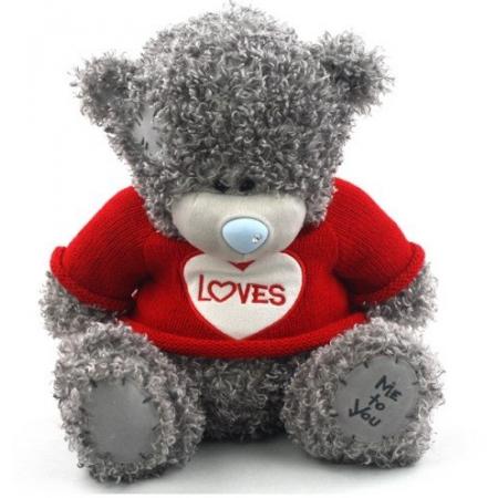 Плюшевый мишка Teddy (25 см) в красном свитере