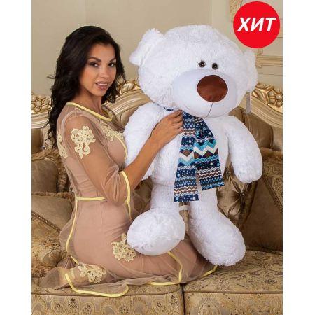 Плюшевый медведь Эрик 100 см (белый)