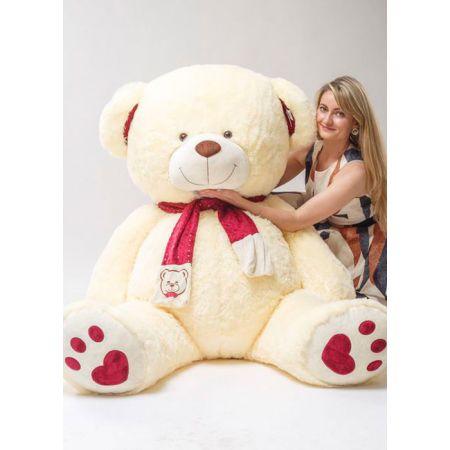 Большой мягкий медведь Рико 180 см молочный