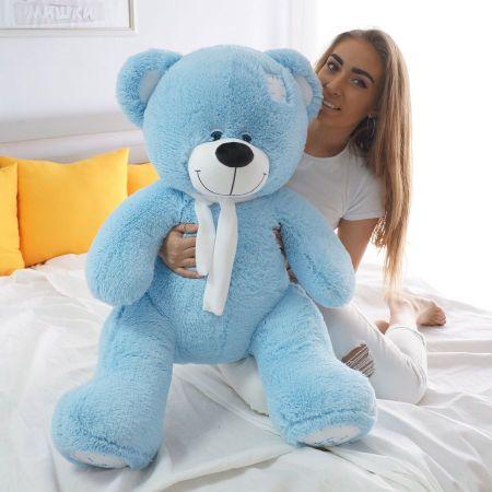 Плюшевый медведь Артур 130 см (голубой)