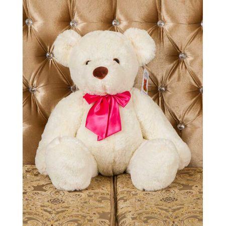 Плюшевый медведь Оливер 80 см (белый)