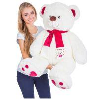Мягкий плюшевый медведь Рико 120 см (молочный)