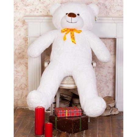 Мягкий плюшевый медведь Феликс 160 см (белый)