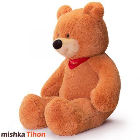 Плюшевый медведь Тихон 150 см (карамельный)