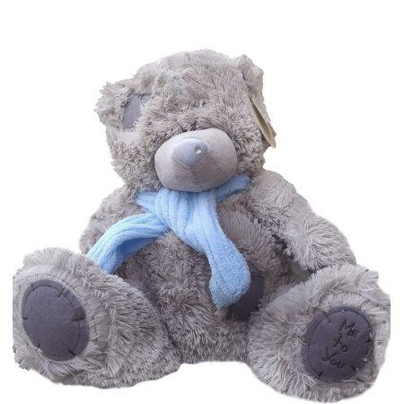 Плюшевый мишка Тэдди 40 см с шарфом