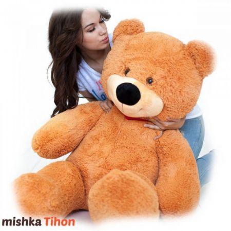 Плюшевый медведь Тихон 130 см (карамельный)