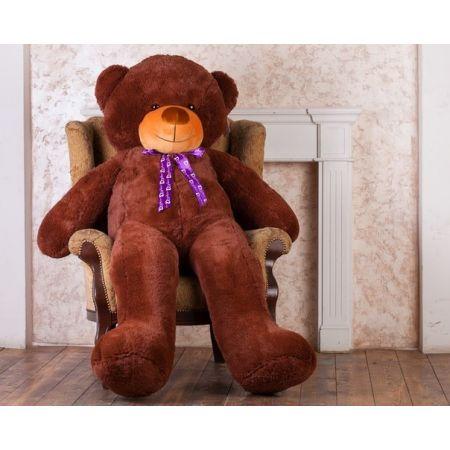 Большой плюшевый медведь Феликс 200 см (бурый)
