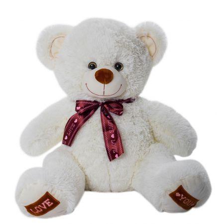 Плюшевый медвежонок Амур 80 см (молочный)