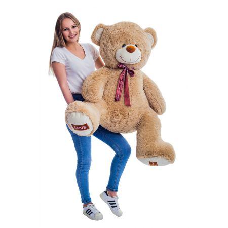Плюшевый медведь Амур 140 см (кофейный)