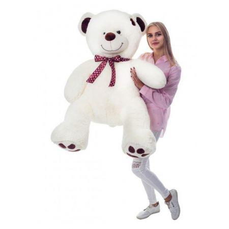 Большой плюшевый медведь Джордж 160 см (молочный)