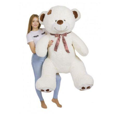 Большой плюшевый медведь Джордж 190 см (молочный)