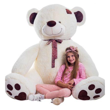 Большой плюшевый медведь Джордж 240 см (молочный)