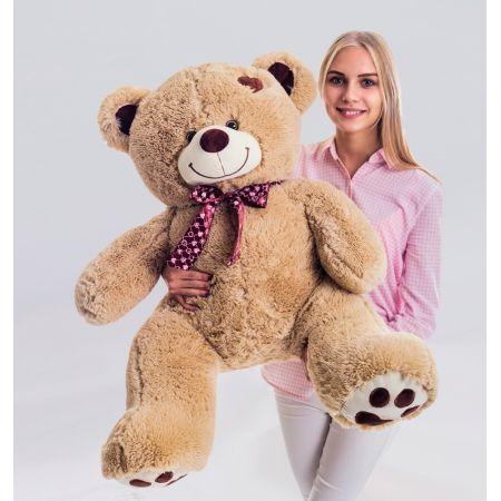 Плюшевый медведь Джордж 120 см (кофейный)