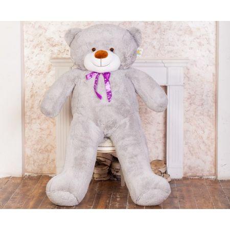 Большой плюшевый медведь Феликс 2 метра (серый)