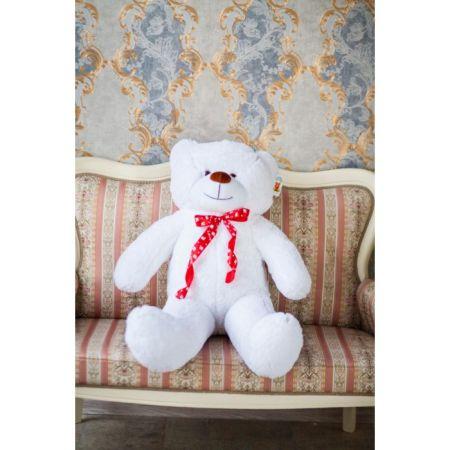 Мягкий плюшевый медведь Феликс 120 см (белый)