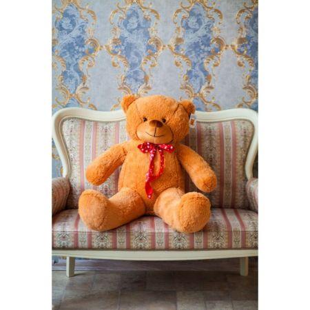 Мягкий плюшевый медведь Феликс 120 см (карамельный)