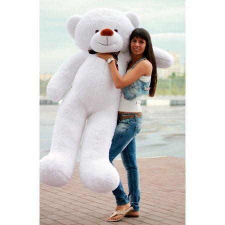 Большой плюшевый медведь Феликс 2 метра (белый)