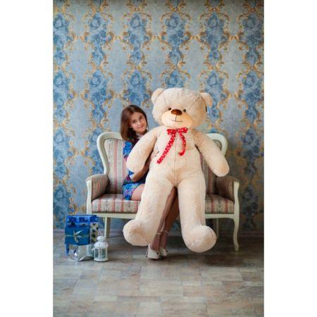 Мягкий плюшевый медведь Феликс 160 см (бежевый)