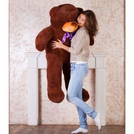 Мягкий плюшевый медведь Феликс 160 см (бурый)