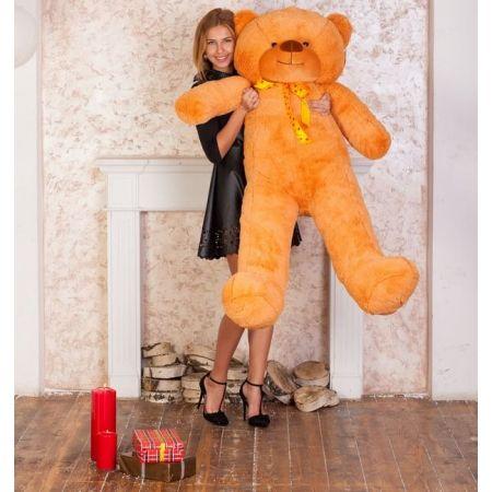 Мягкий плюшевый медведь Феликс 160 см (карамельный)