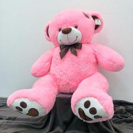 Плюшевый медведь Джордж 150 см (розовый)