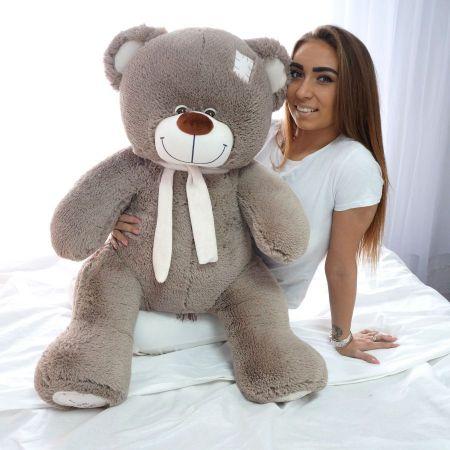 Плюшевый медведь Артур 130 см (серый)