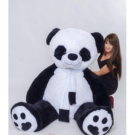Большая плюшевая игрушка панда 220 см (с шарфом)